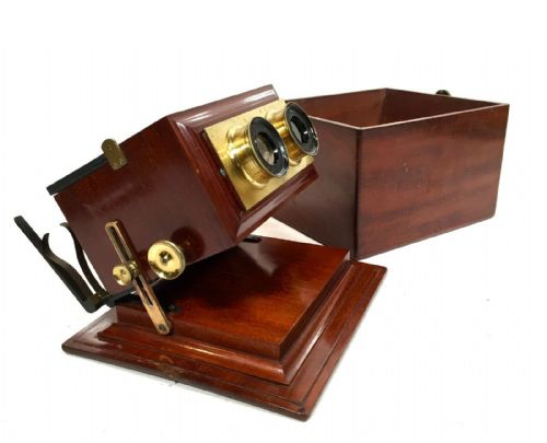 19th Century Antique Smith Beck & Beck Achromatic Stereoscope / Stereo Viewer